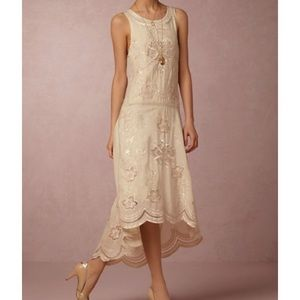 Anthropologie Dresses - Bhldn nude Cora vintage dress.